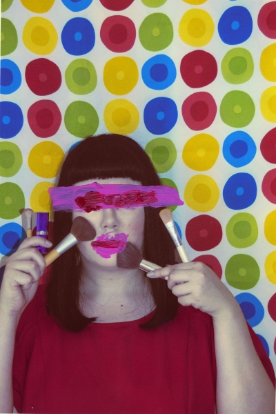"""Sugar And Spice    Anonymous Self Portraits , 2015 Digital Color Archival Inkjet print with Hand Applied Processes 11 x 8.5""""."""