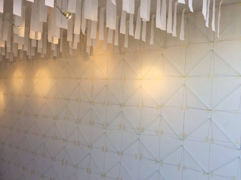 Alberto Aguilar with Madeleine Aguilar, Installation image of wall and ceiling, No Showroom, 12-15