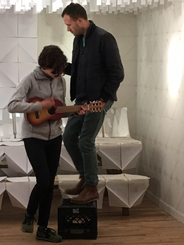 Alberto performing with his daughter Madeleine Aguilar, 12-18-15