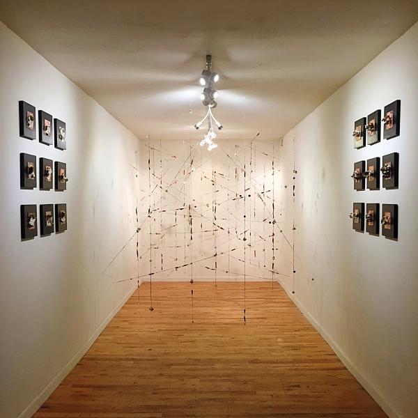 Onloaded: Christine Cassano/Threading Conjecture, 2016. Installation view.  Photo credit: Christine Cassano