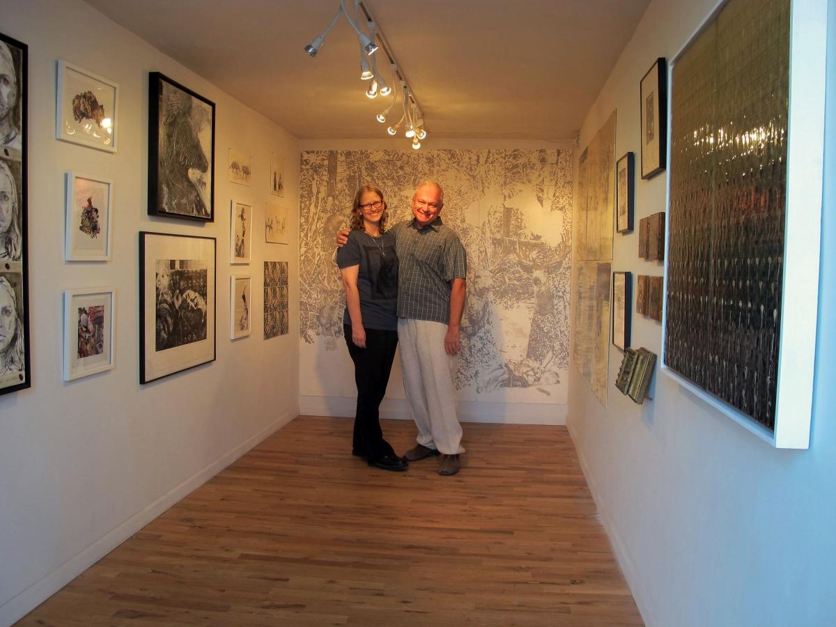 Carolyn Lavender and Ted Decker, Art Detour, 3-19-16.Photo credit: Monica Aissa Martinez