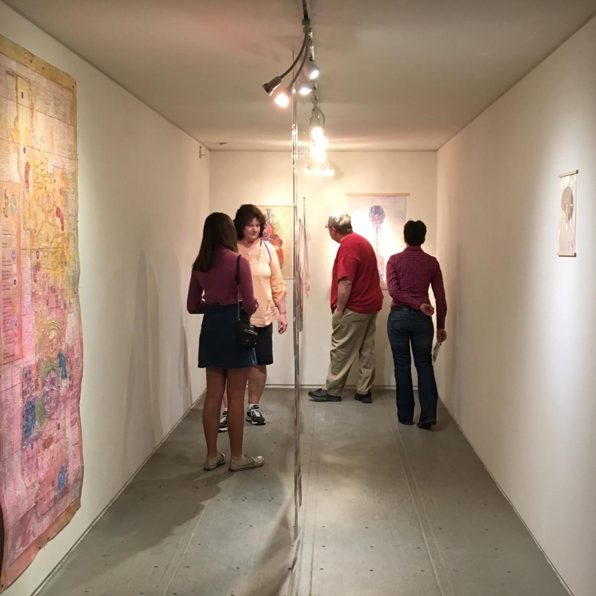 Monica Aissa Martinez exhibition opening, 3-18-16Photo credit: Ted Decker