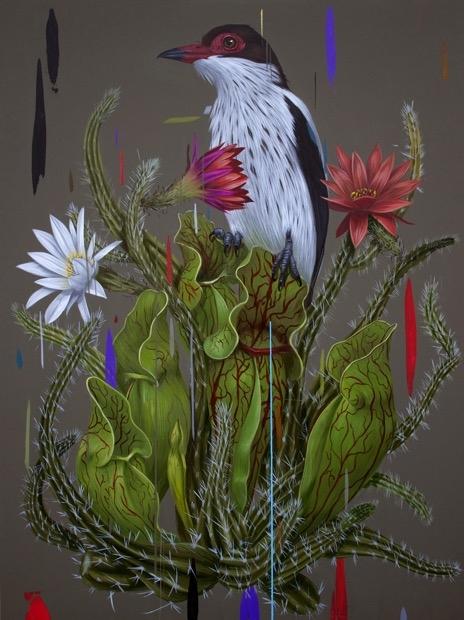 Savage Beauty , 2014  Acrylic on panel 24 x 18 inches