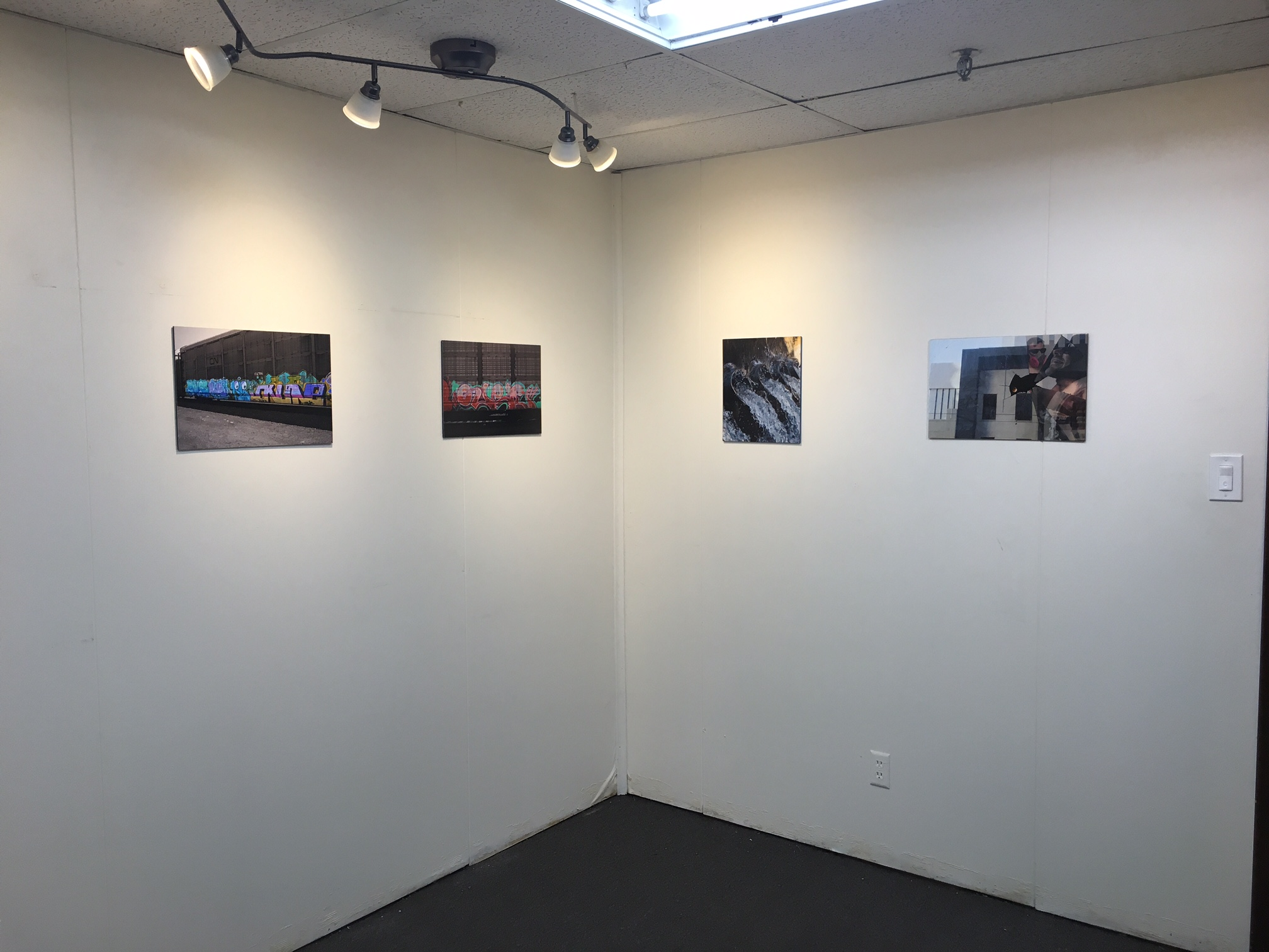 Nicholas Johnson, Installation image of corner and walls, 1-16-16.JPG
