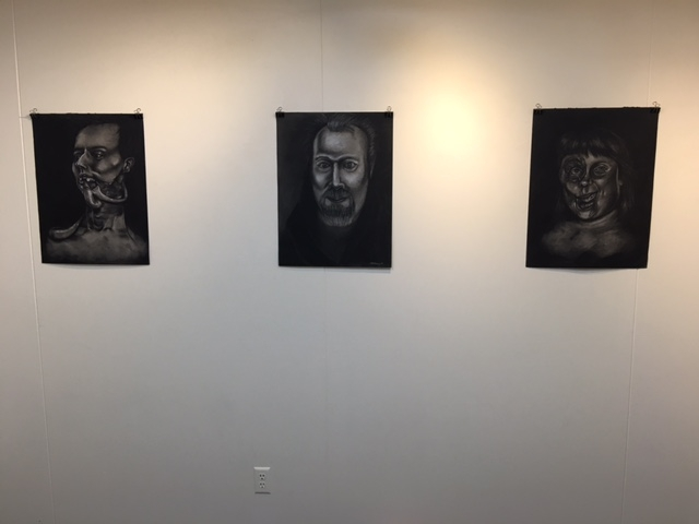 Kat McGrath and Christian Stewart charcoal drawings, 4-16-16