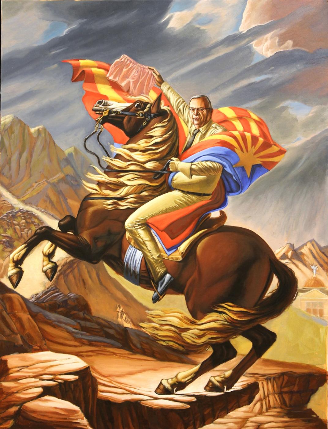 Conquista-Arizona , 2016 Oil on canvas 40 x 30 inches Courtesy of the Artist.