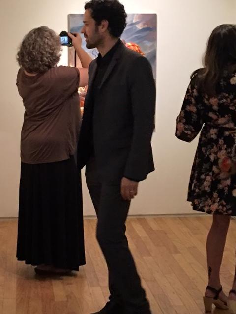 Darrin with Lynn Trimble, arts writer, 10-21-16