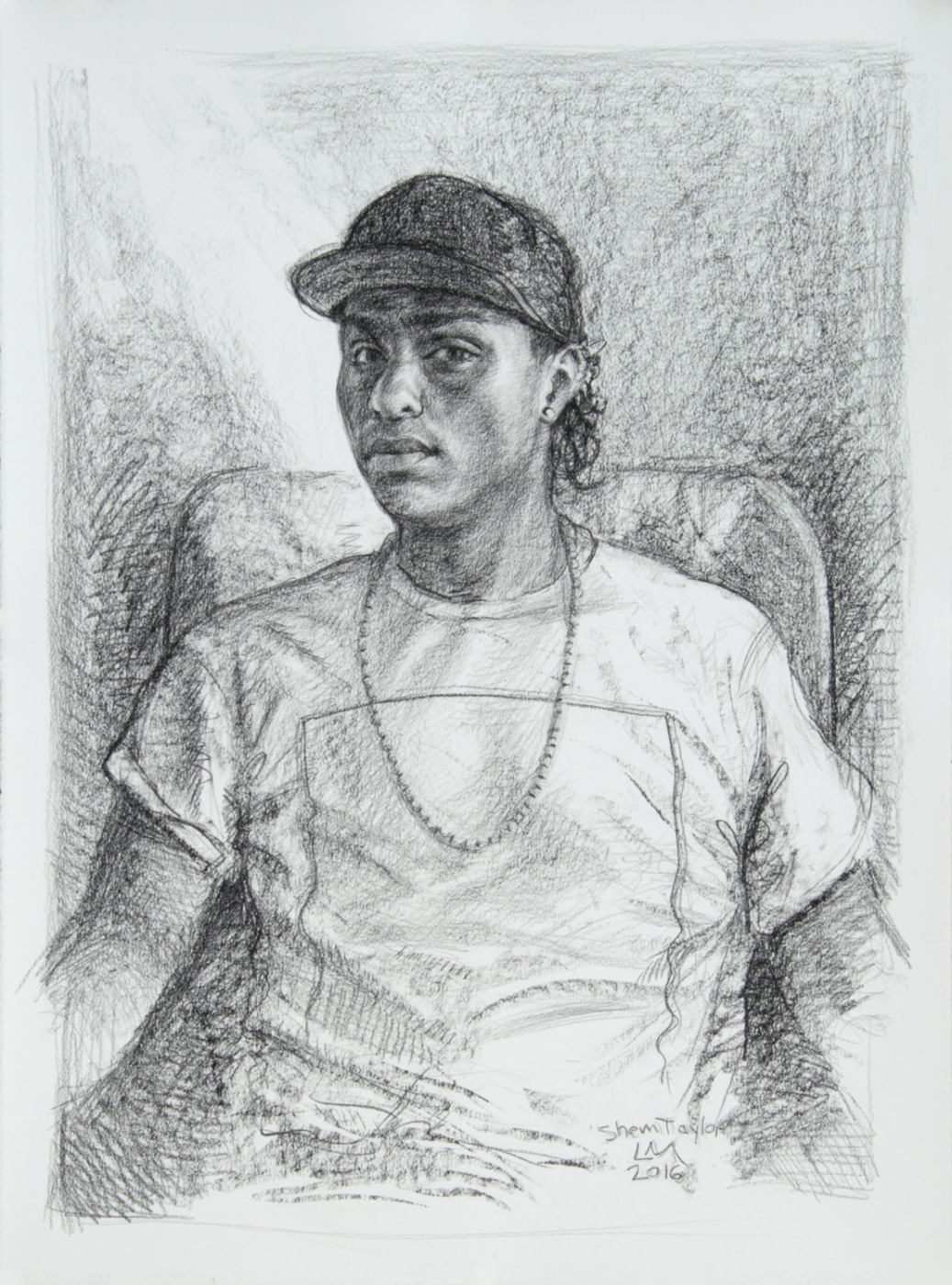 Shem Taylor , graphite and conte, 2016