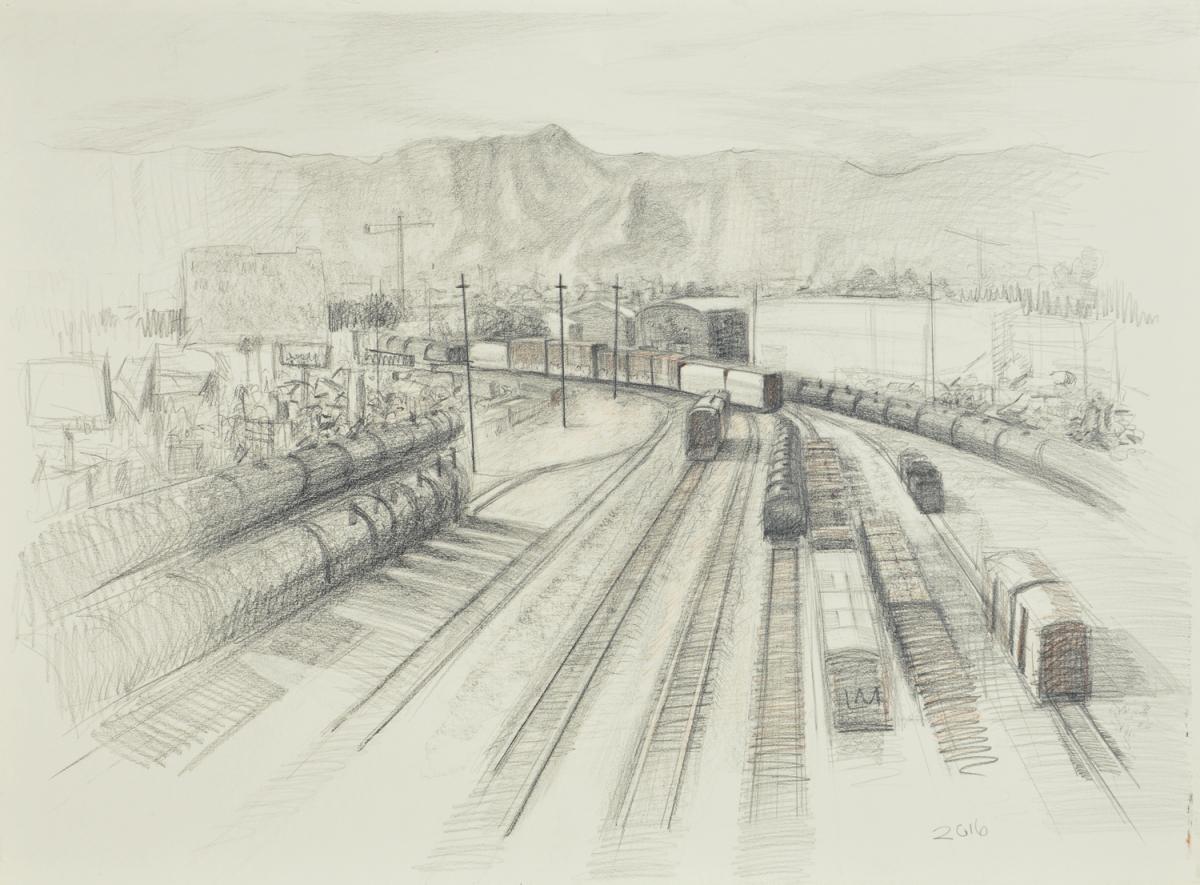 The Phoenix Freights , graphite, 2016