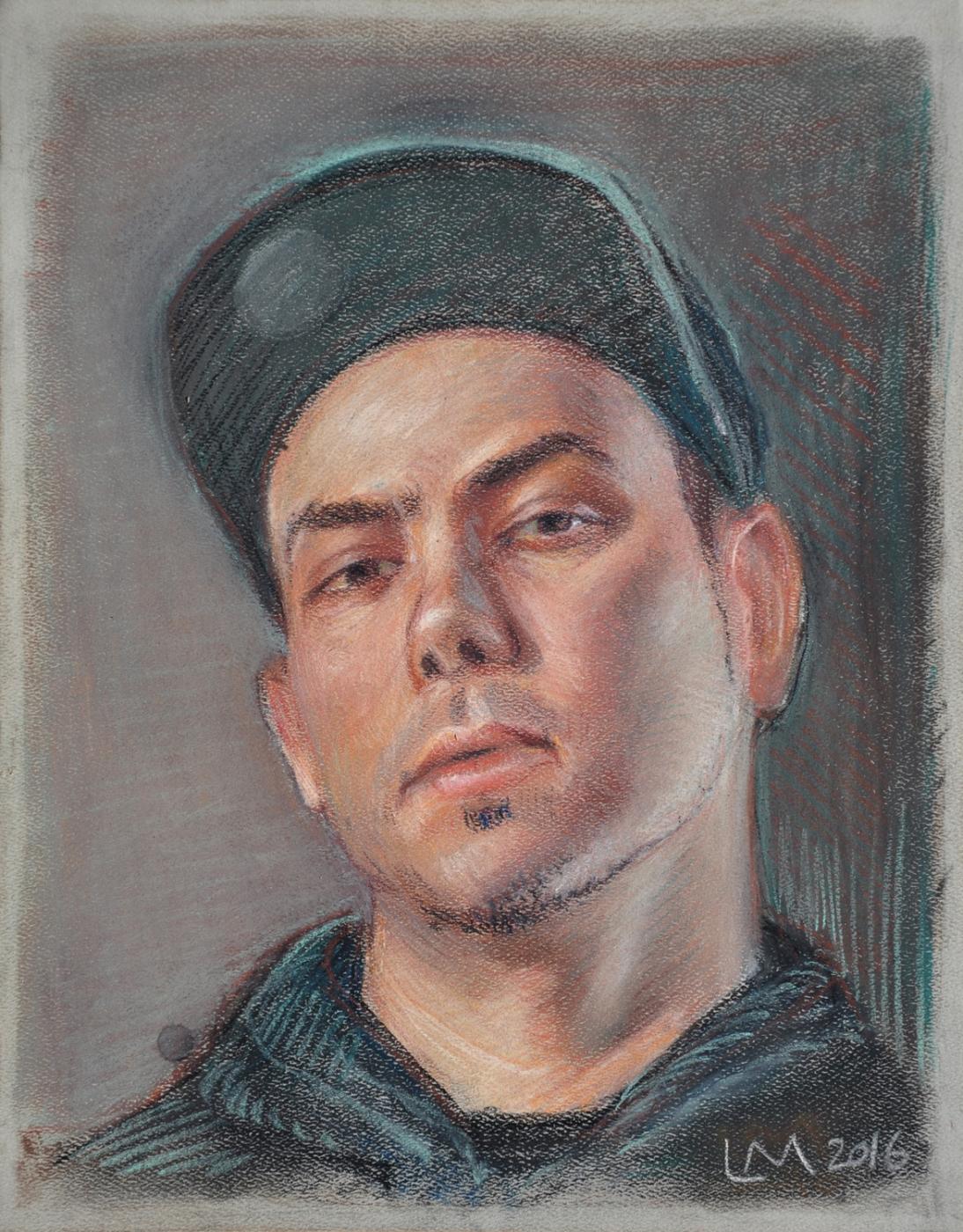 B-Boy Drew , chalk pastel, 2016
