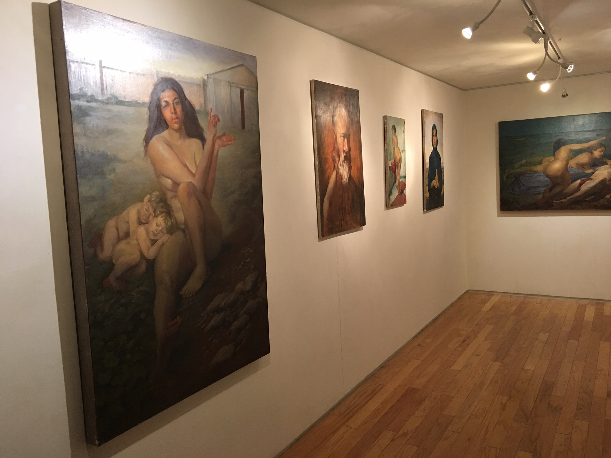 Rory MacLean, installation, east wall, 10-15-17.JPG