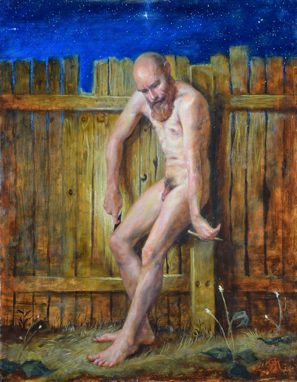 Rory Alan MacLean, Groping, Oil on linen, 24 x 20 inches.jpg