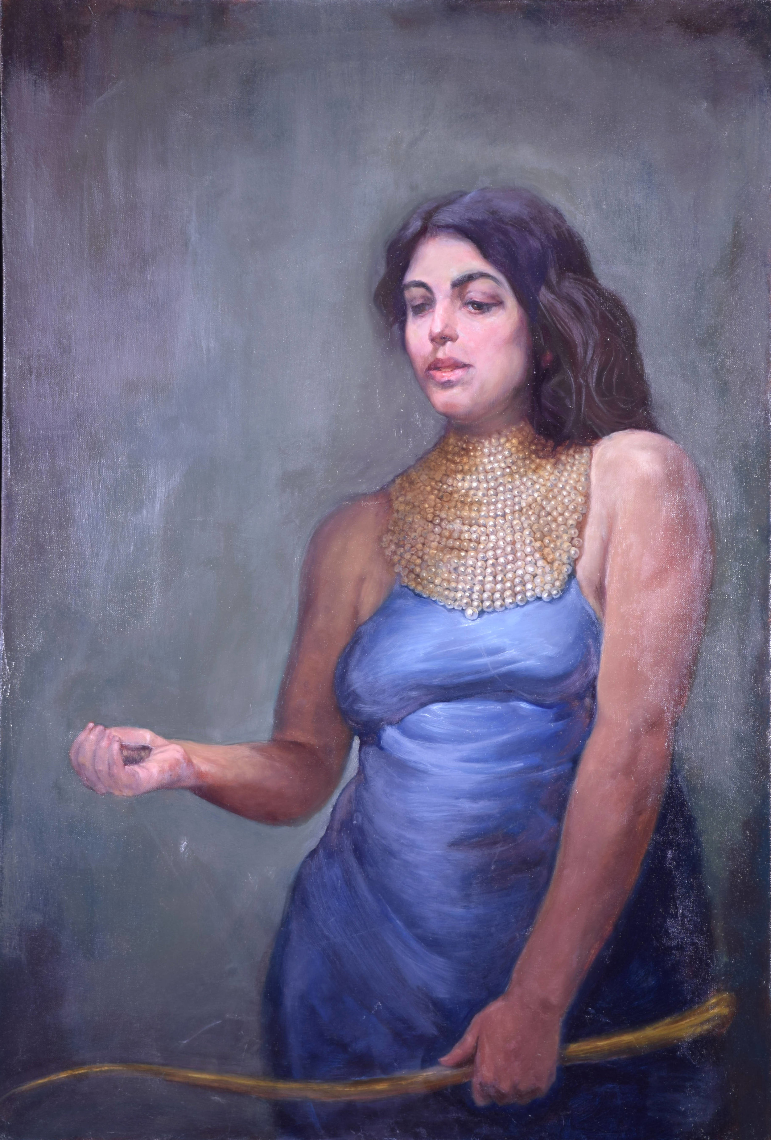 Rory Alan MacLean, Priestess, Oil on linen, 56 x 39 inches.jpg