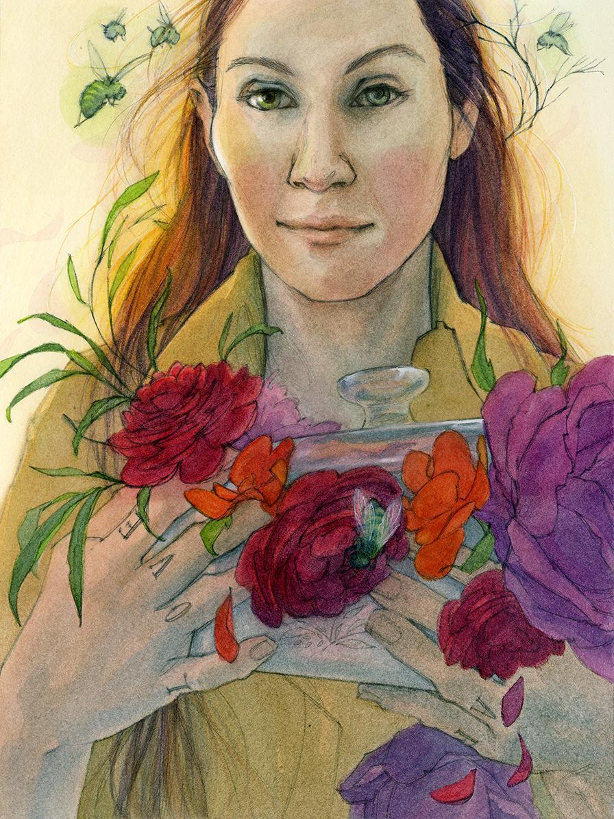 Laura Menardi Jacobsen, Welcome Wagon, 2017, Watercolor, graphite on paper
