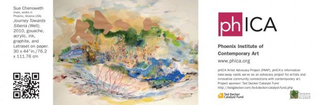 Artist:  Sue Chenoweth   Sponsors:  Ted Decker Catalyst Fund  and  Splash Printing and Marketing
