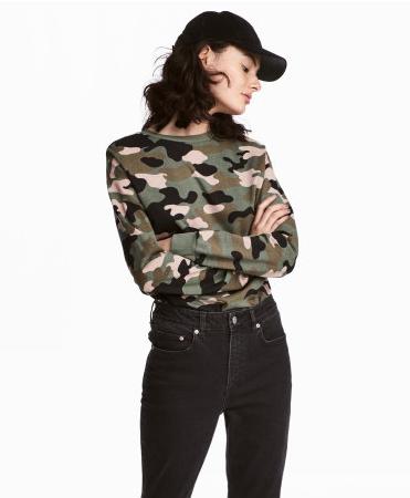 H&M Camo Sweatshirt