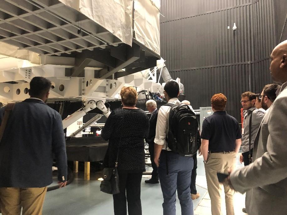 Touring the simulators in the winter lab at Toronto Rehabilitation Institute (TRI)