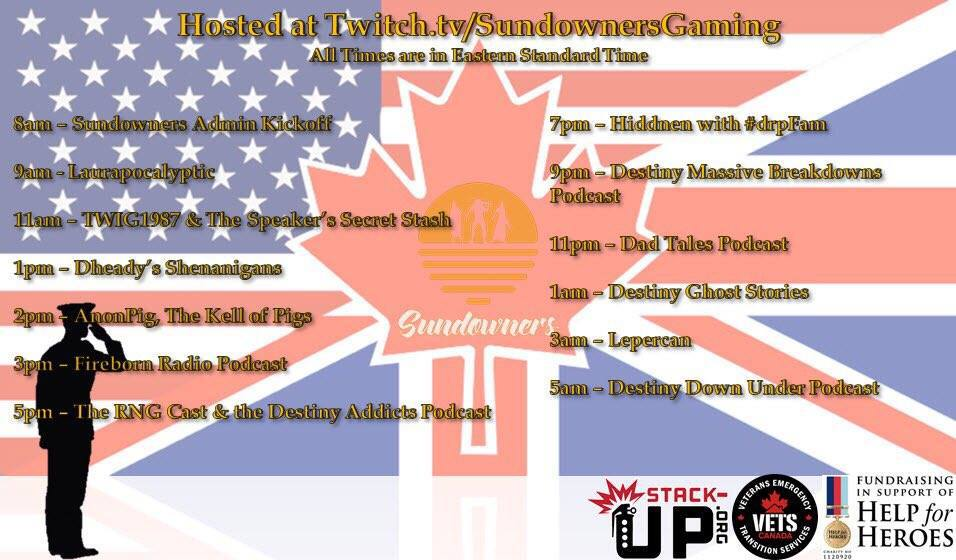 Sundowners Charity Stream 2017