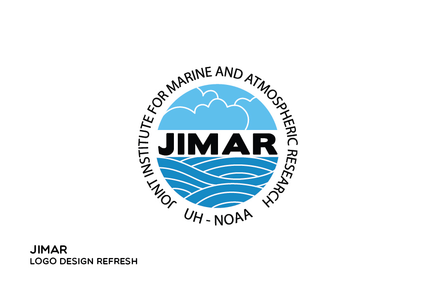 Updated logo design for JIMAR (the joint institute for marine and atmospheric research) based on an original logo designed by someone else
