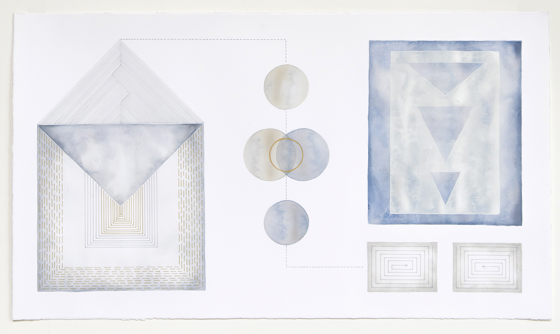 Diagrammatic Construct #5   acrylic and pen on paper,  40 x 70cm