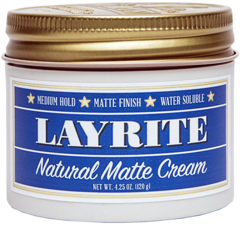 LayRite's Natural Matte Cream is a solid choice for a longer but natural looking style.