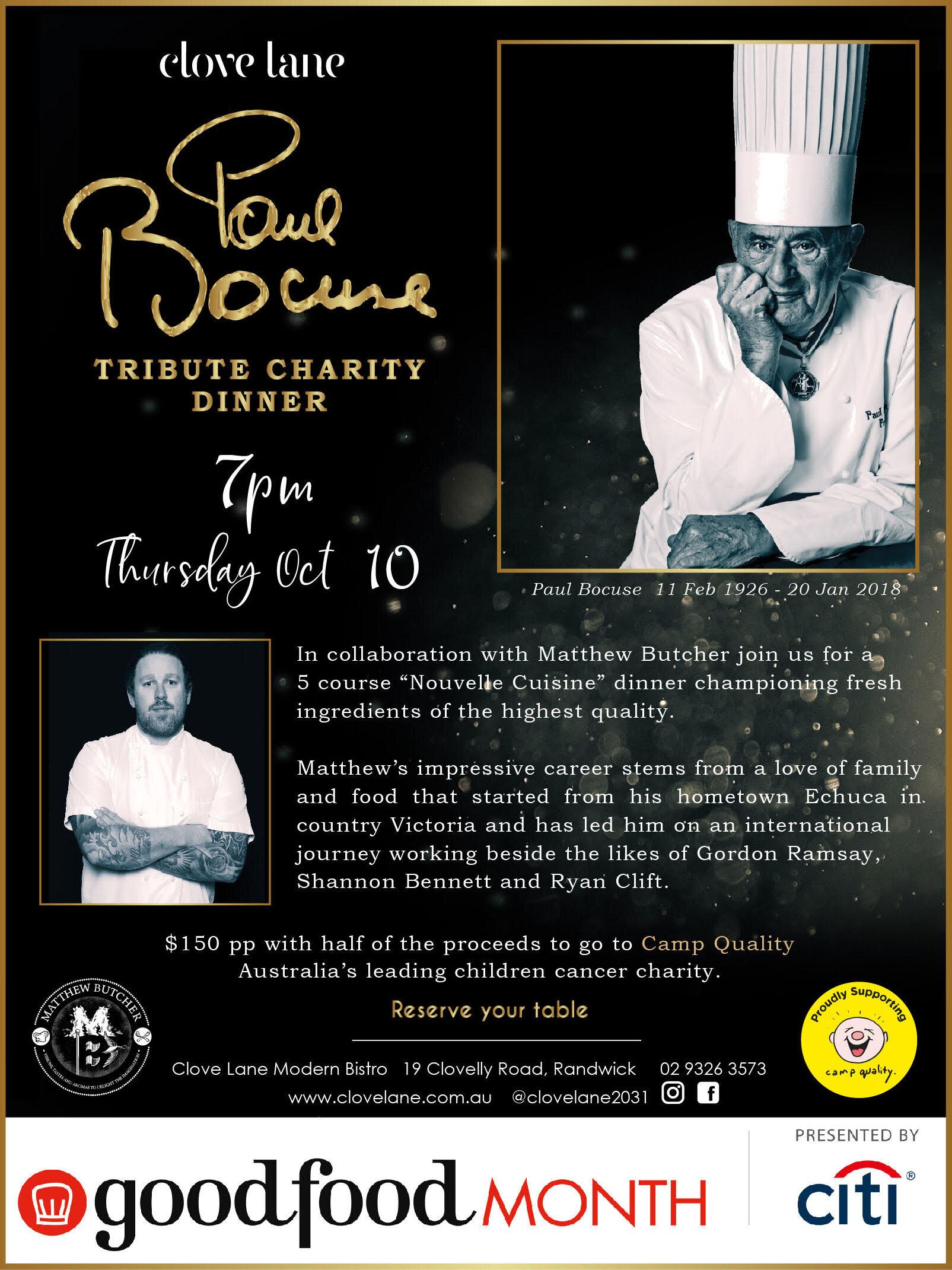 Paul Bocuse Tribute Charity Dinner