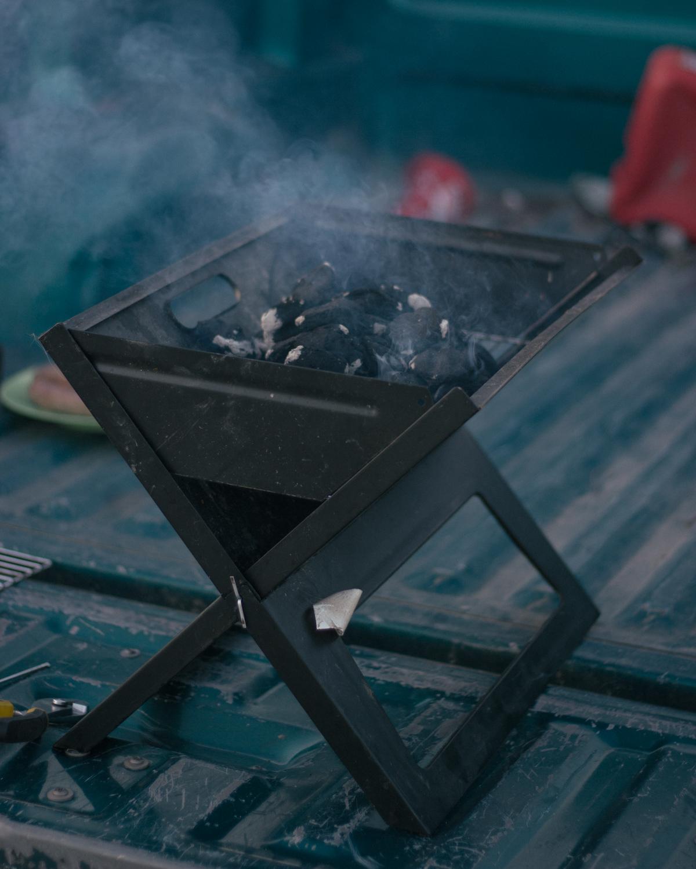 Impromptu grill
