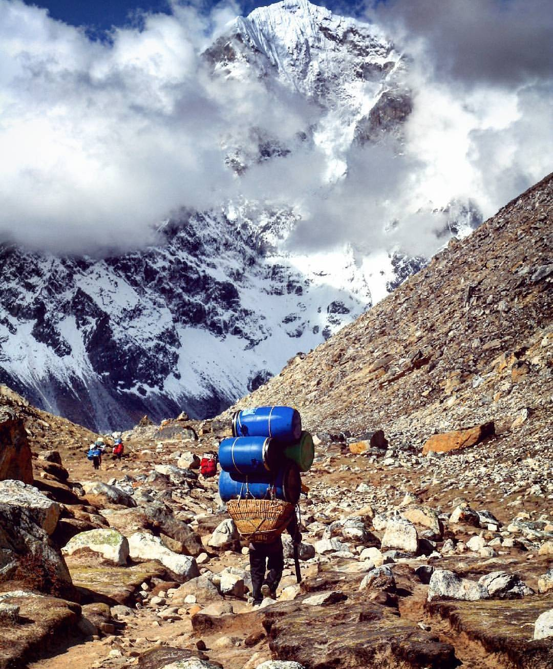 The Sherpa porters by Sundar Thapa
