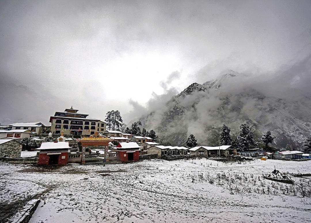 Tengboche monastery by Mohan Duwal