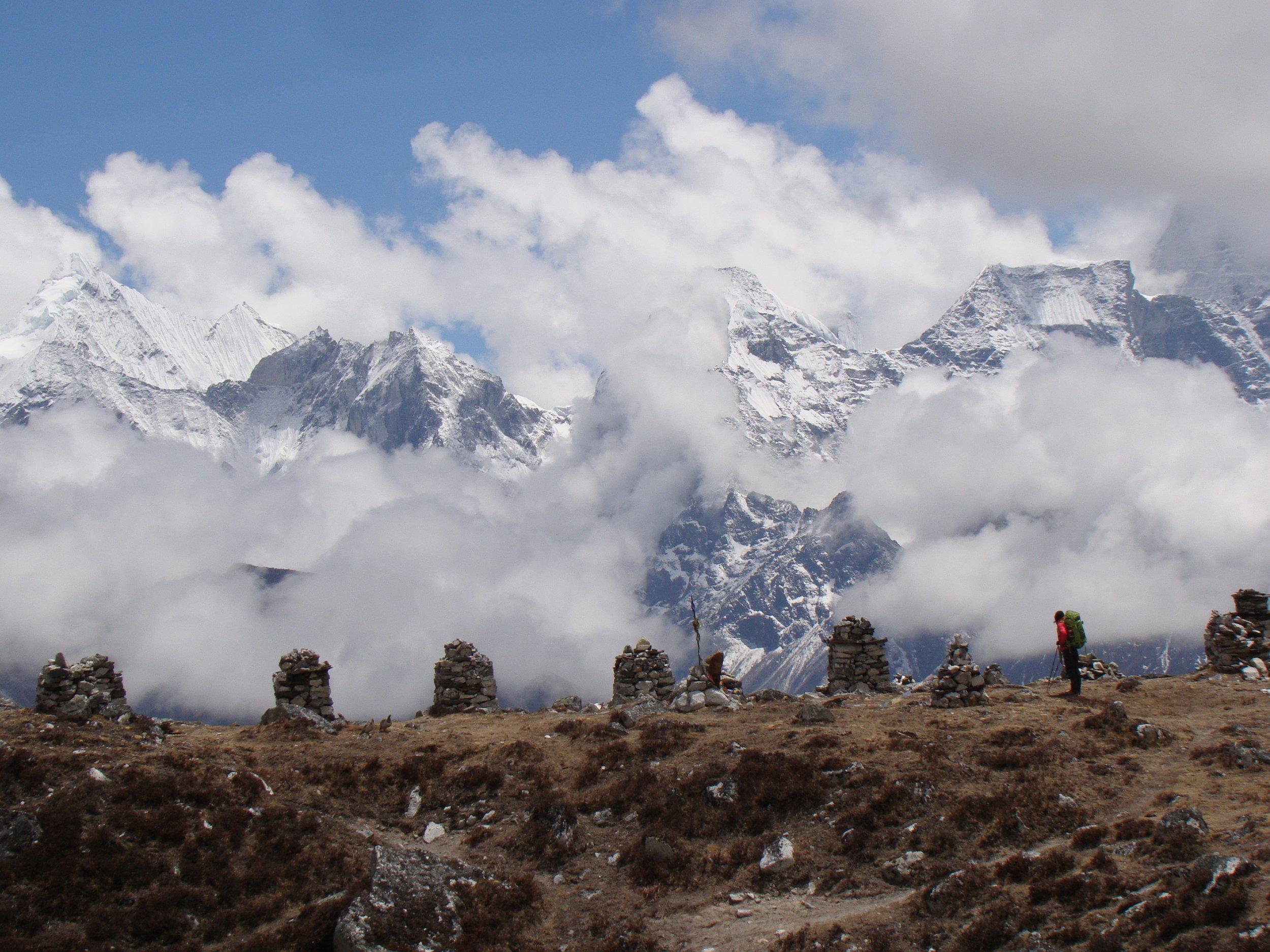A silent moment beside memorial stupas - Photo by Filip Lhota