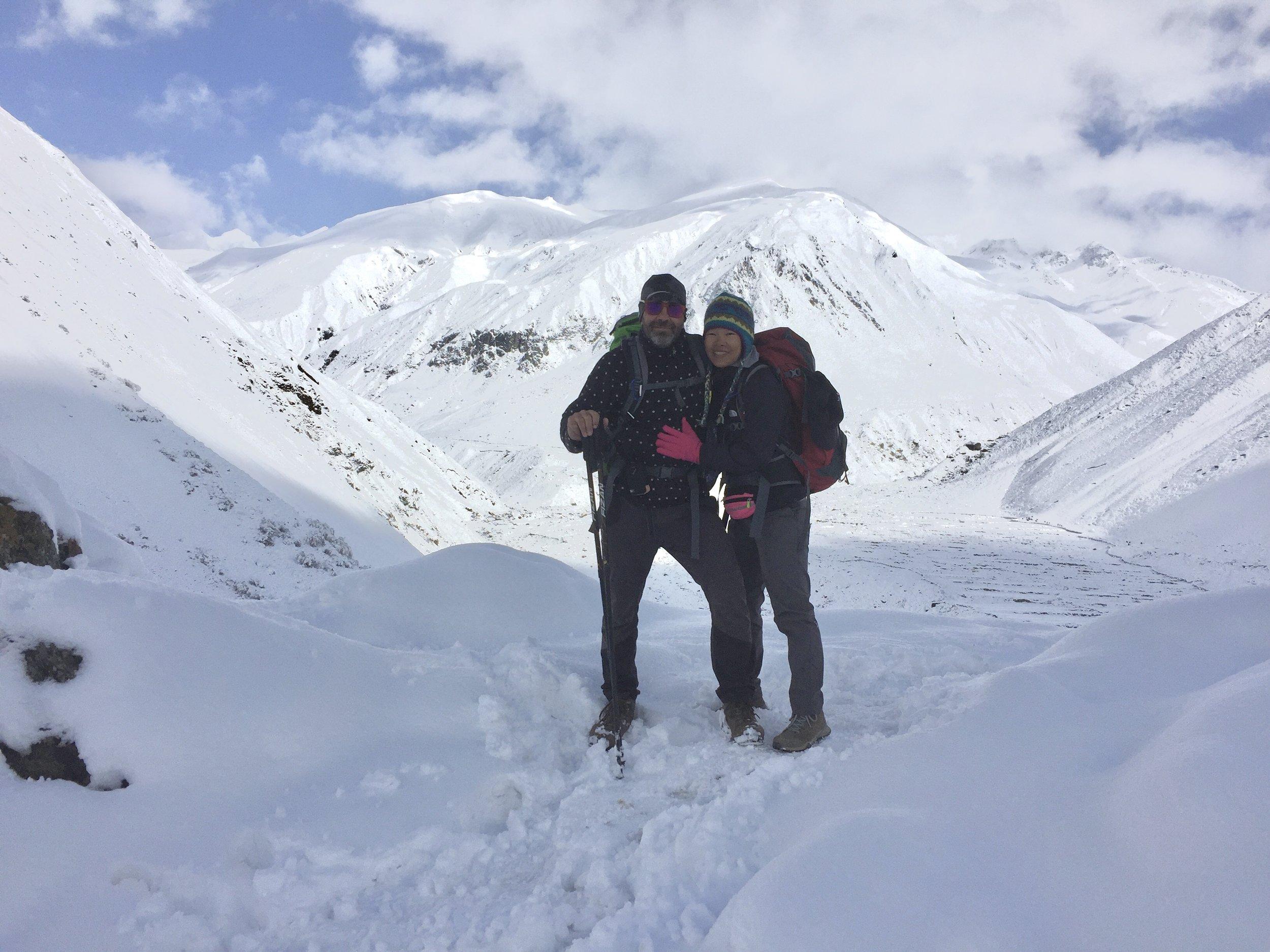 Thick snow in Samdo (3,865m) - Manaslu Conservation Area