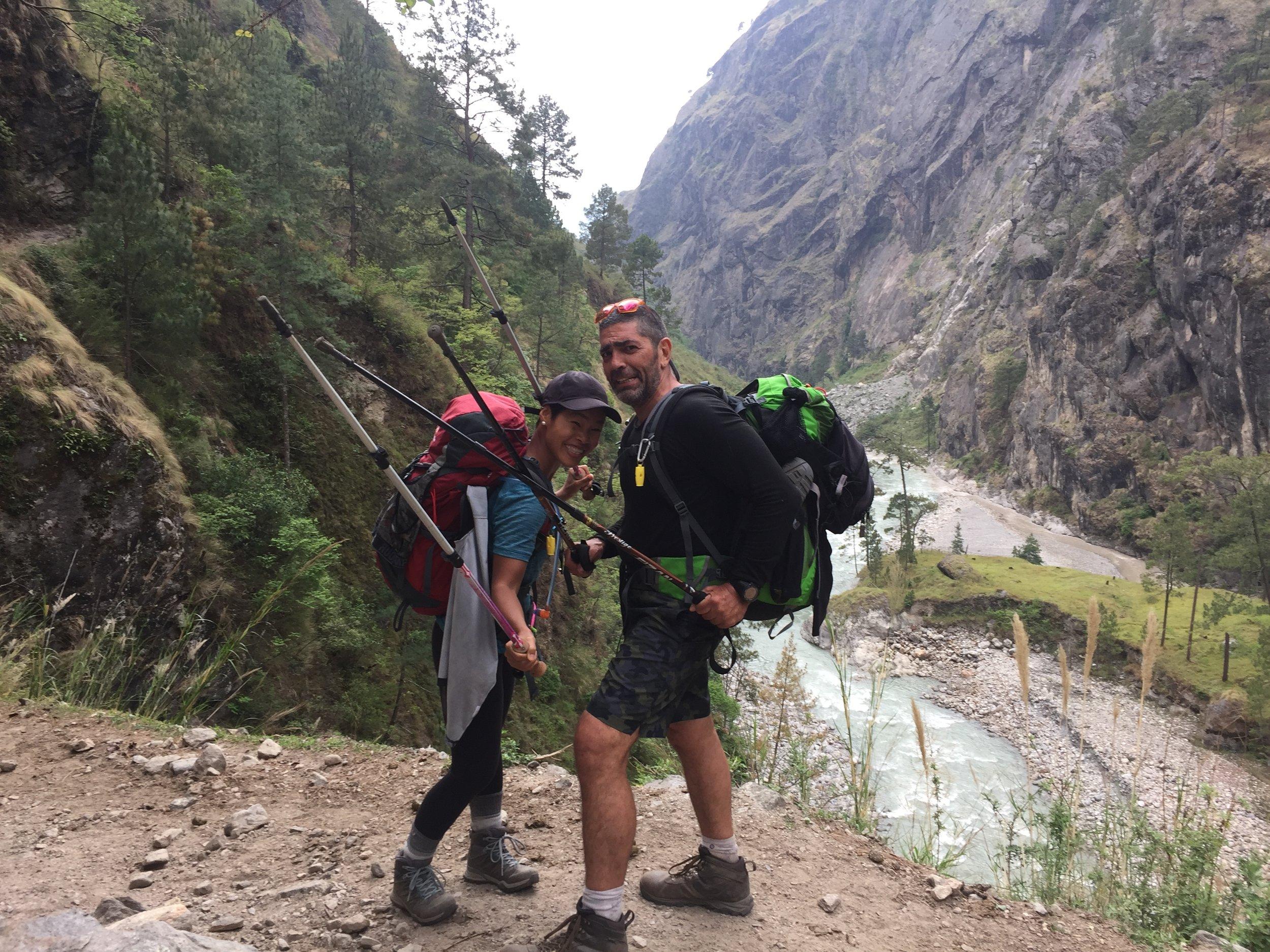 Dòng sông Buri Gandaki phía dưới