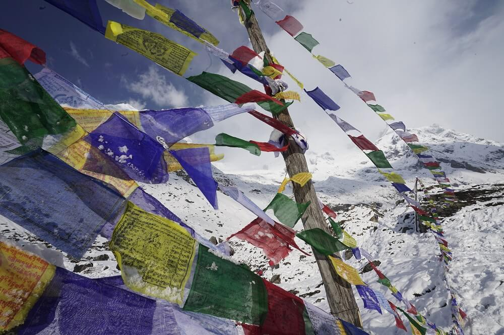 Prayer flags in Annapurna Base Camp