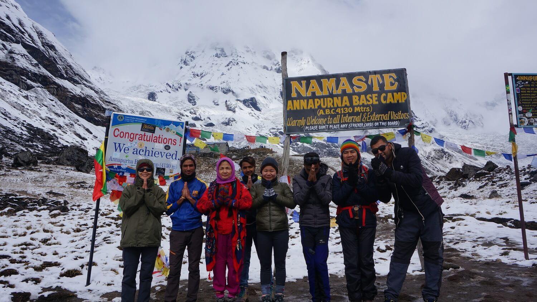 NAMASTE at Annapurna Base Camp 4,130m
