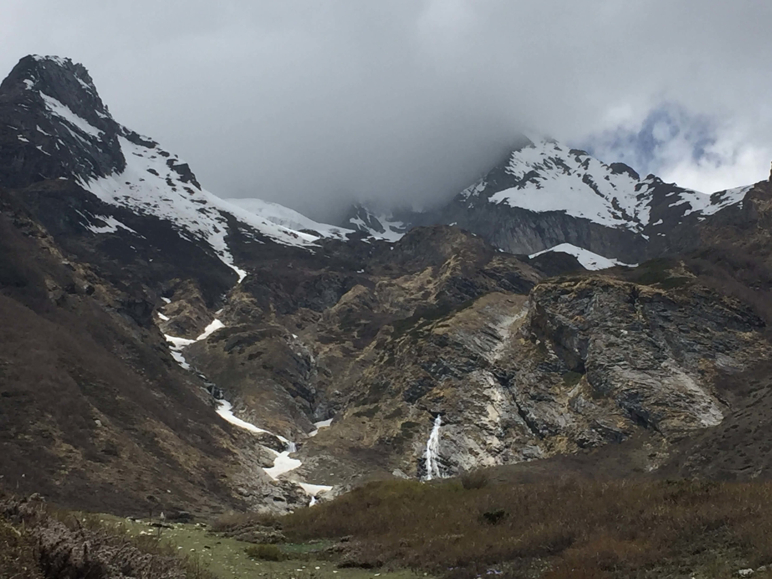 Glacier river in the mighty Himalaya mountain