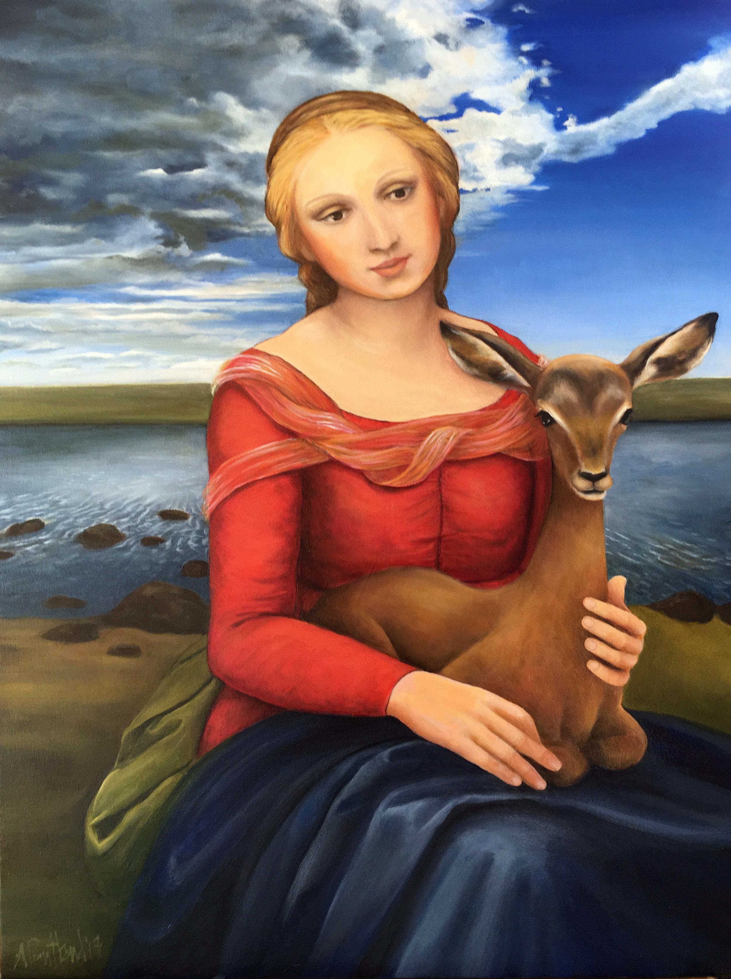 Madonna and Impala (after Rafael)