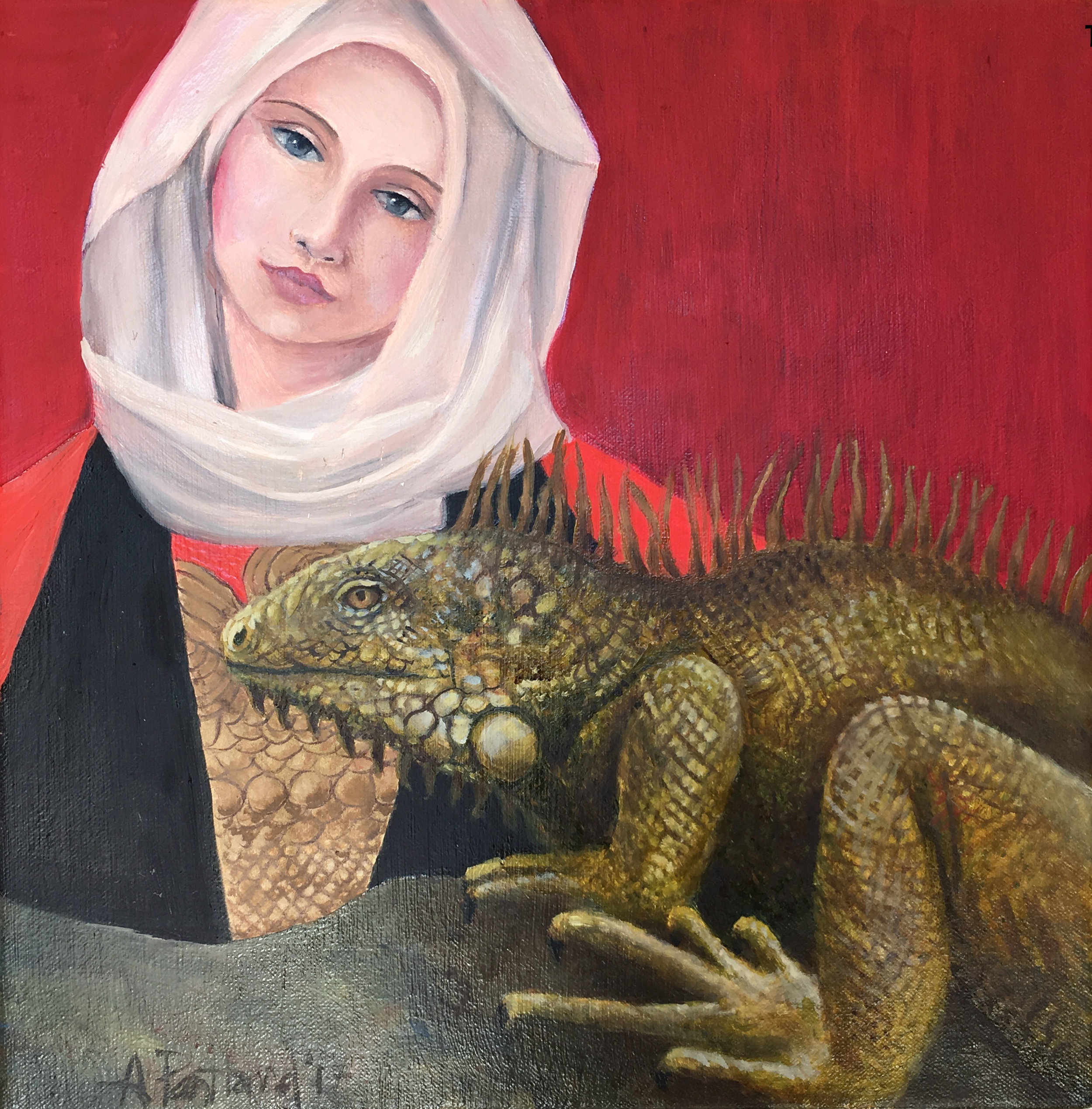 The Iguana Madonna, Study (After Marianne Stokes)