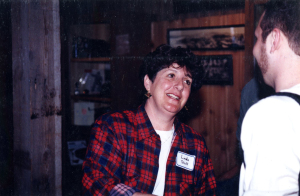 Turtle Bay's first Curator of Forestry, the former Forest Director, Linda Ragsdale, on opening day