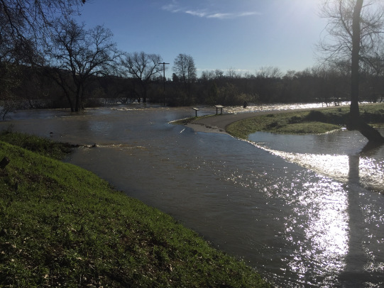 The South Trail was impassable on February 14, 2017