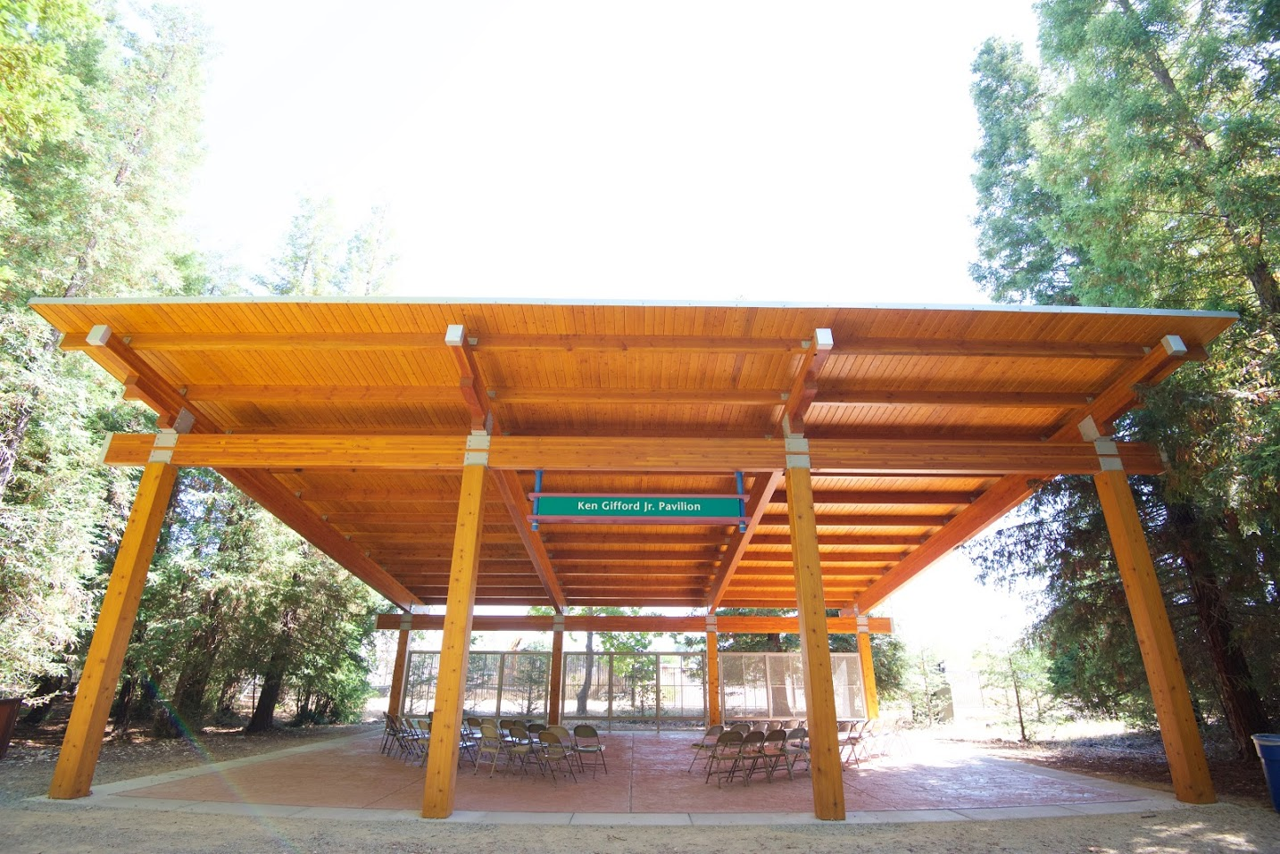 Gifford Memorial Picnic Pavilion - The pavilion includes a 1,575 sq. ft. covered structure capable of seating 120 people and can accommodate large school groups and other programing and facility rentals.