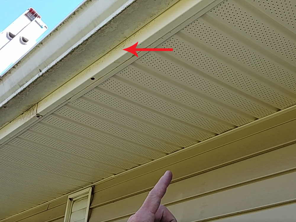 Above: Roof fascia sits behind your gutters.