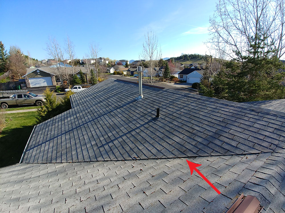 Above: An existing 3-tab shingle valley.