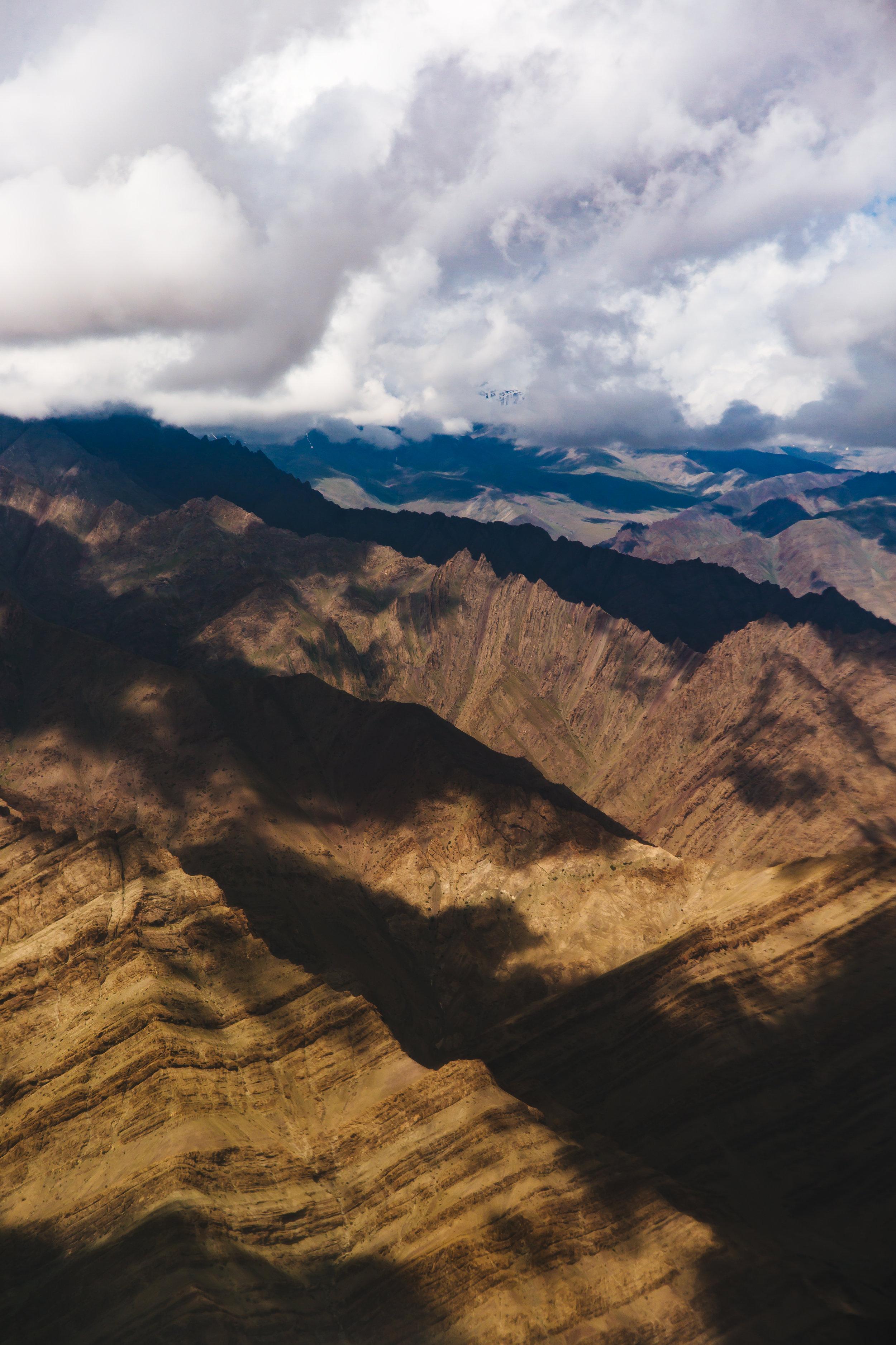 arial Leh valley