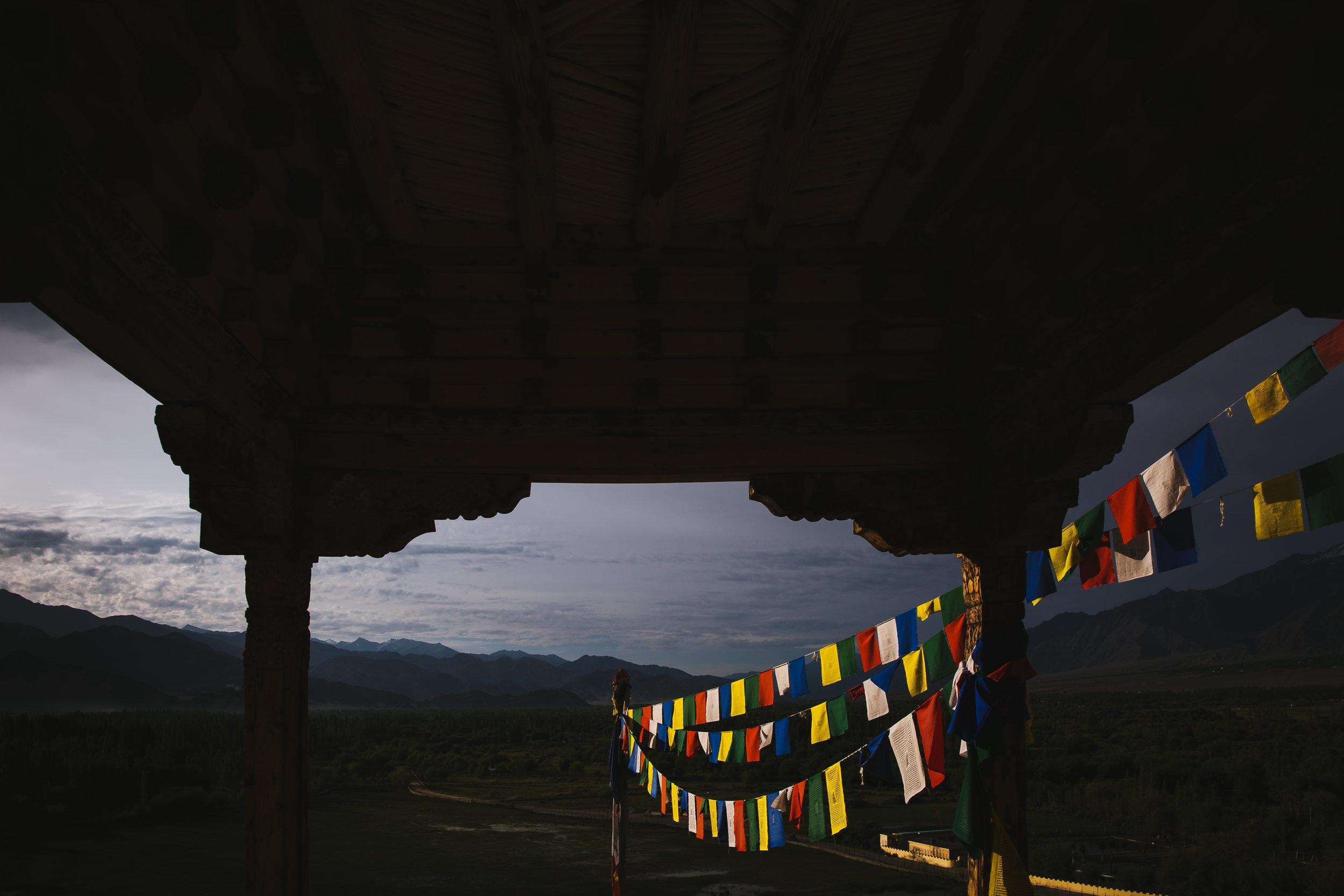 morning prayer flags