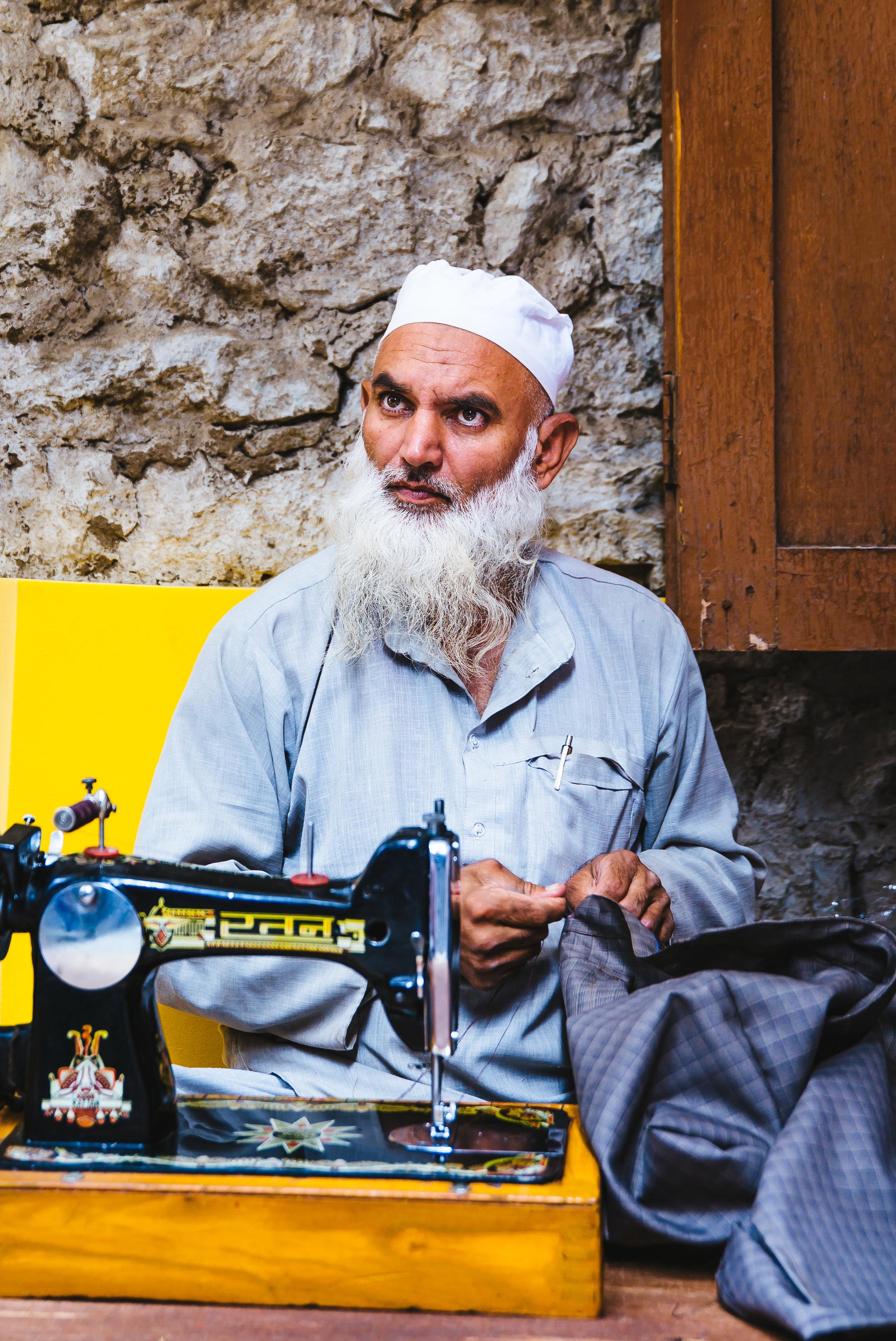 tailor in Leh, India