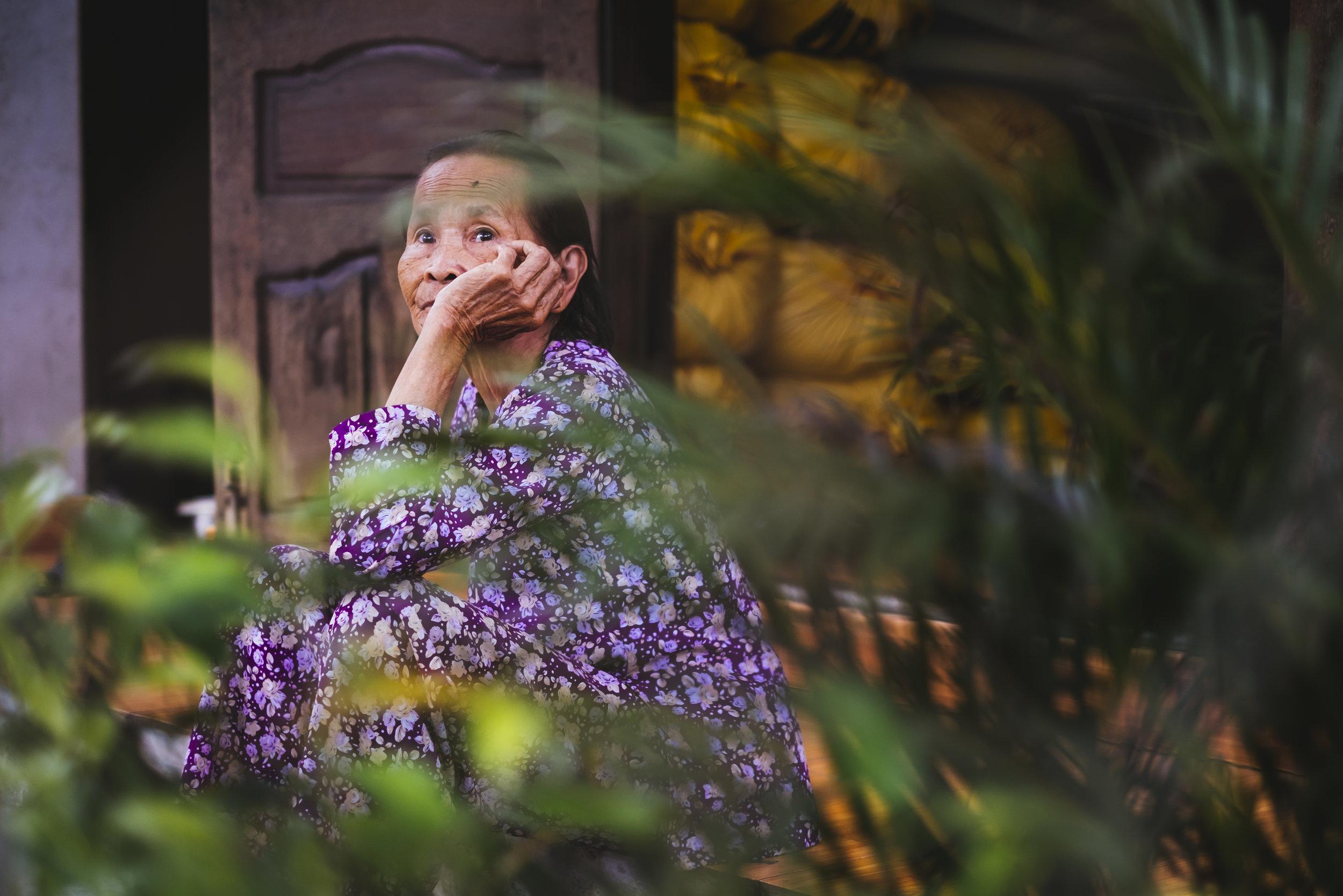 Vietnam lady thinking
