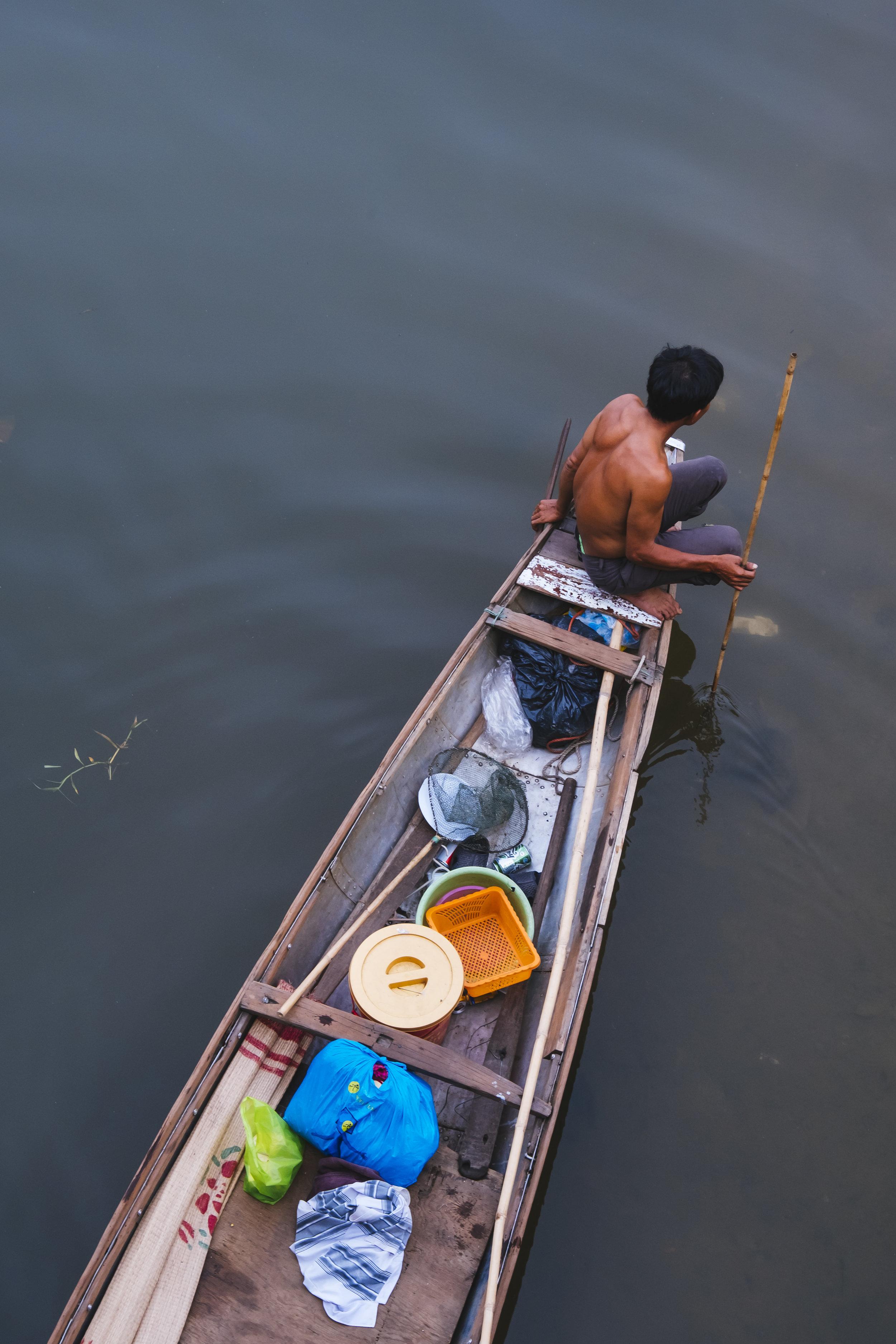 Vietnam boat in water