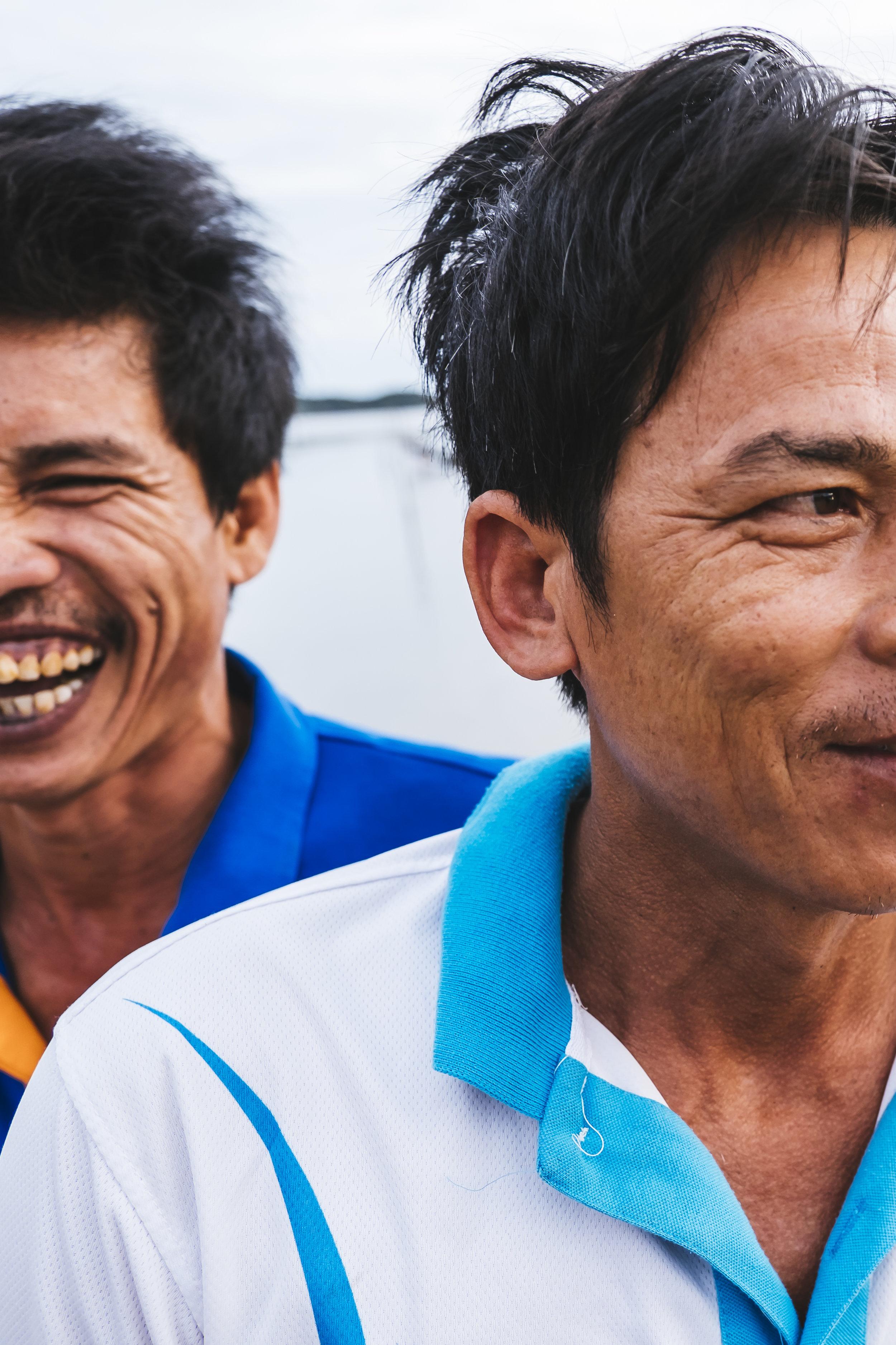 Vietnam dudes laughing