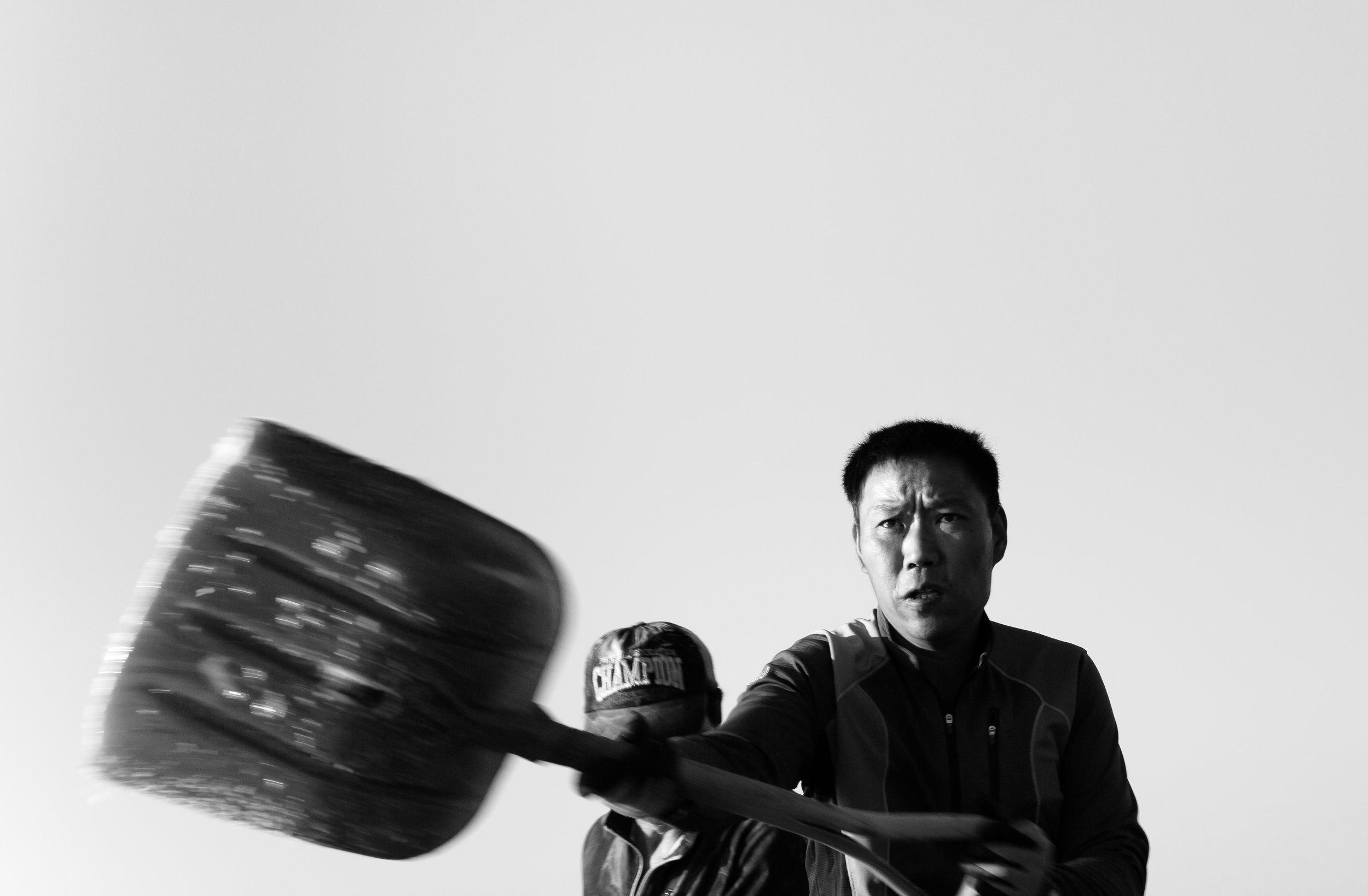 Korean salt farmer