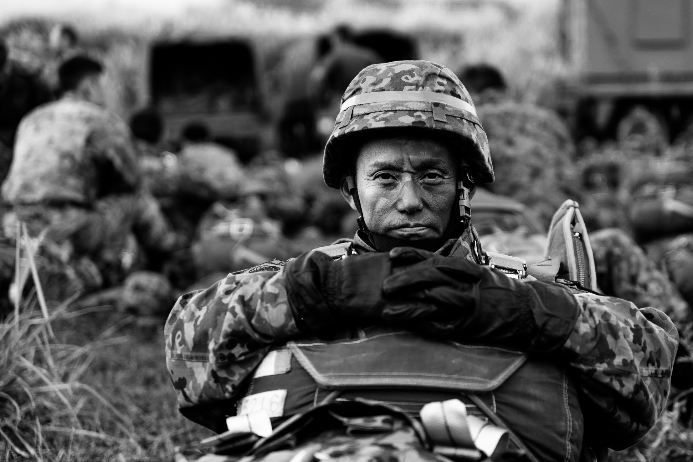 army-stare